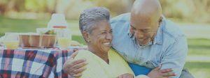 Happy Elderly Couple at Picnic