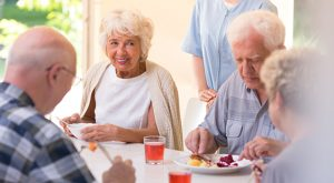 Assisted Living Residents Enjoying Lunch